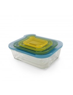 Zestaw 4 szklanych pojemników Nest Glass Storage - Joseph&Joseph