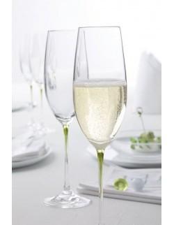 LO - Zest. 2 kieliszków do szampana brąz, La Perla