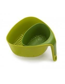 JJ - Zestaw 2 durszlaków, zielony, Nest