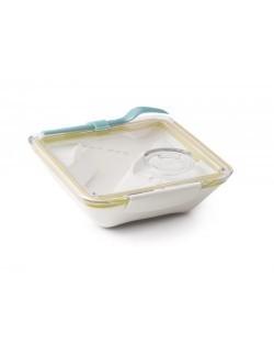 BB - Lunch box BOX APPETIT, żółto-biały