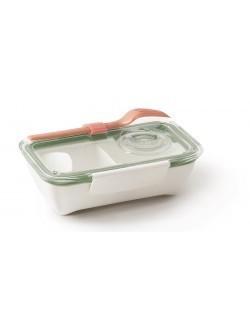 BB - Pojemnik BENTO BOX, biało-oliwkowy