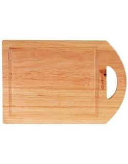 Deska do krojenia z drewna kauczukowego 35x25cm