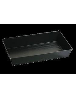 Czarna blacha non-stick 39 x 23,5 x 7 cm - SNB