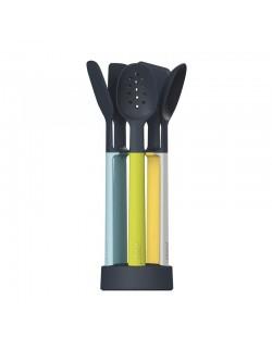 Zestaw 5 narzędzi na stojaku Elevate Silicon - Joseph&Joseph