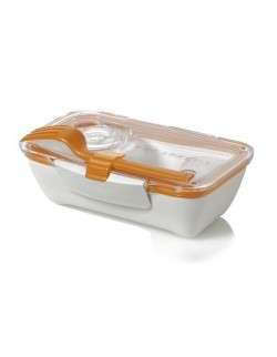 BB - Pojemnik BENTO BOX biało/pomarańczowy