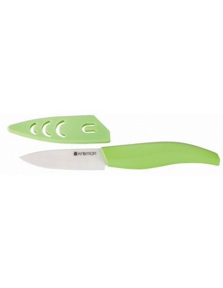 Nóż ceramiczny obierak prosty 7,5cm Pistacja