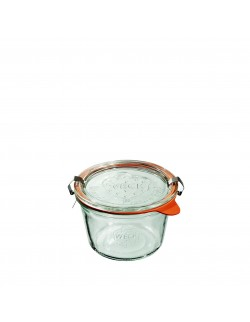 Słoik MOLD 370 ml z pokrywą, uszczelką i 2 zapinkami - op. 6 szt - WECK