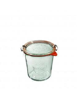 Słoik MOLD 580 ml z pokrywą, uszczelką i 2 zapinkami - op. 6 szt - WECK