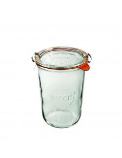 Słoik MOLD 850 ml z pokrywą, uszczelką i 2 zapinkami - op. 6 szt - WECK