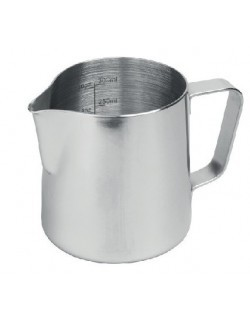 Dzbanek STALOWY do mleka 0,40 z miarką