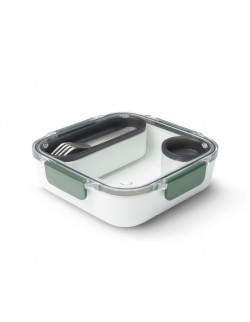 BB - Lunch box kwadratowy, oliwkowy