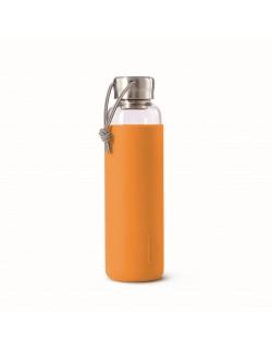 BB - Butelka szklana na wodę 600ml, pomarańczowa