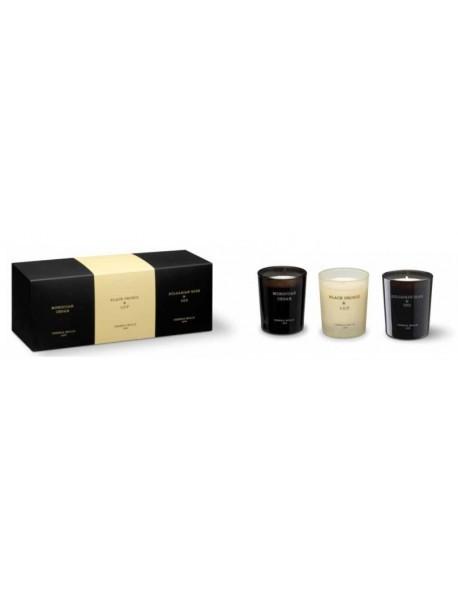 CM - Zestaw 3 małych świec zapachowychBRaO+BOaL+MC