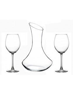 Karafka 1,6L i 2 kieliszki do wina 550ml