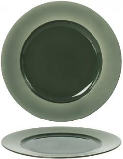 Talerz płaski z rantem 310 mm - Ambition Satin Green