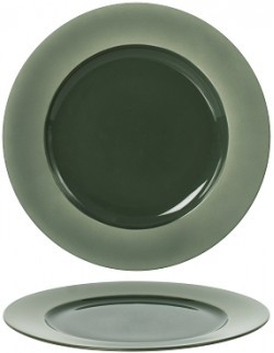 Talerz płaski z rantem 160 mm - Ambition Satin Green