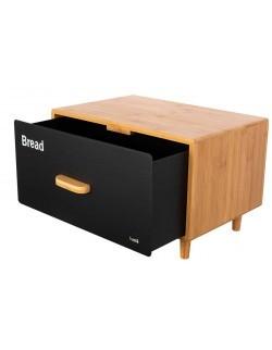 Chlebak z drewna bambusowego z szufladą - HUSLA SCANDIC