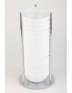 Stojak bufetowy chromowany na 15 miseczek, 14 cm