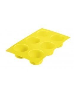 Silikonowa forma na 6 babeczek, kol. żółty Westmark