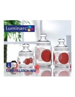 Komplet pojemników / słoików Club Constellation Red 3-elementowy LUMINARC