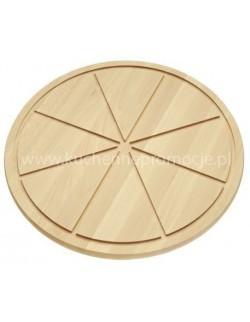 Deska do serwowania pizzy z drewna bukowego 500 mm