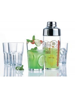 Komplet do drinków Samba - shaker 580 ml + 4 kieliszki 400 ml LUMINARC