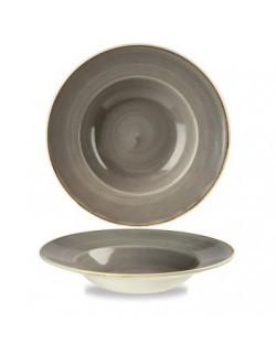Talerz do makaronu 240 mm CHURCHILL, Stonecast Peppercorn Grey
