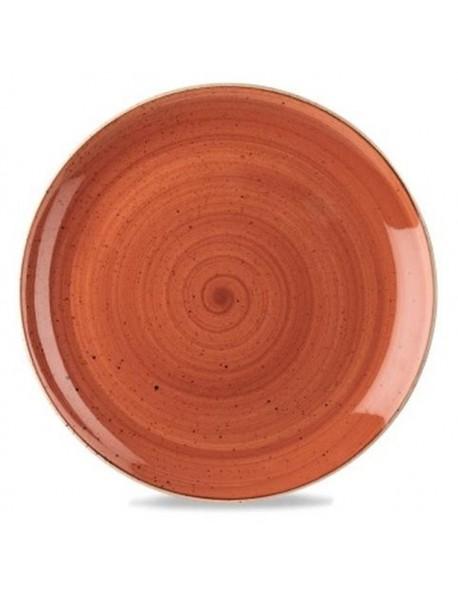 Talerz płytki 260 mm pomarańczowy - CHURCHILL Stonecast Spiced Orange