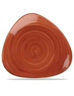 Talerz trójkątny 229 mm pomarańczowy - CHURCHILL Stonecast Spiced Orange