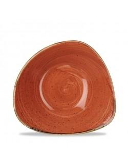 Miska trójkątna 0,37 l pomarańczowa - CHURCHILL Stonecast Spiced Orange