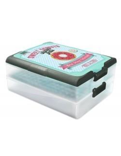 Pojemnik na ciasto - grilla dwupiętrowy DOMOTTI Dolce Modern Donuts 39 x 30 x 18 cm
