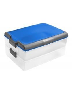 Pojemnik na żywność dwupoziomowy DOMOTTI Dolce 39 x 30 cm niebieski