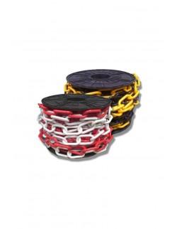 Łańcuch do słupka biało-czerwony z tworzywa sztucznego