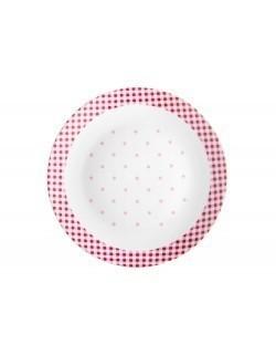 Talerz deserowy Breakfast DOMOTTI 20 cm czerwony