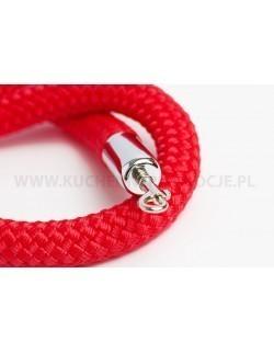 Czerwony sznur pleciony 150 cm