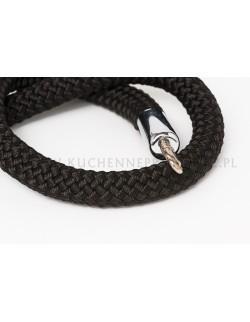 Czarny sznur pleciony 150 cm