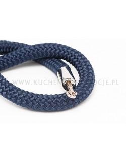 Granatowy sznur pleciony 150 cm