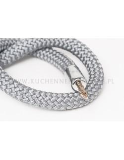 Jasnoszary sznur pleciony 150 cm
