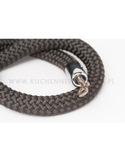 Ciemnoszary sznur pleciony 150 cm
