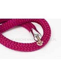 Bordowy sznur pleciony 150 cm