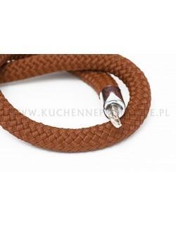 Brązowy sznur pleciony 150 cm