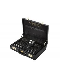Komplet sztućców AMBITION Prato 72-elementowy w walizce
