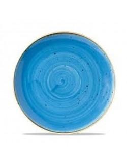 Talerz okrągły 324 mm niebieski - Churchill Stonecast Corn Flower