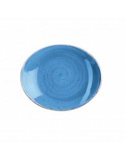 Talerz owalny 192 mm niebieski - Churchill Stonecast Corn Flower