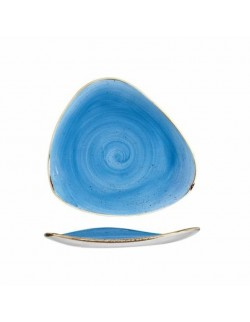 Talerz trójkątny 229 mm niebieski - Churchill Stonecast Corn Flower
