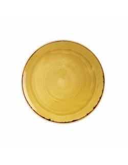 Talerz okrągły 324 mm - Churchill Stonecast Mustard Seed Yellow