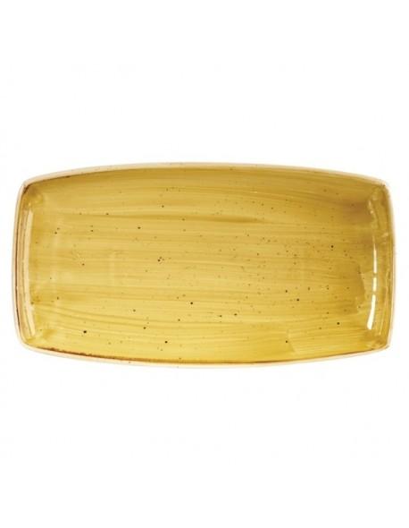 Półmisek prostokątny 350 x 185 mm - Churchill Stonecast Mustard Seed Yellow