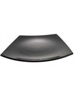 Talerz płaski 26,5 cm - Quadrato Czarne