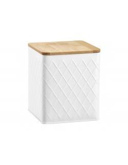 Puszka AMBITION Nordic z pokrywką 1,7 l białe romby
