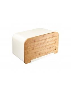 Chlebak AMBITION Nordic z deską do krojenia 35 x 21,5 x 21,5 cm kremowy